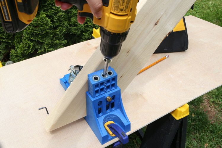Using a drill and Kreg Jig