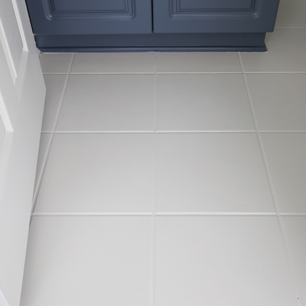 floor tile painted white
