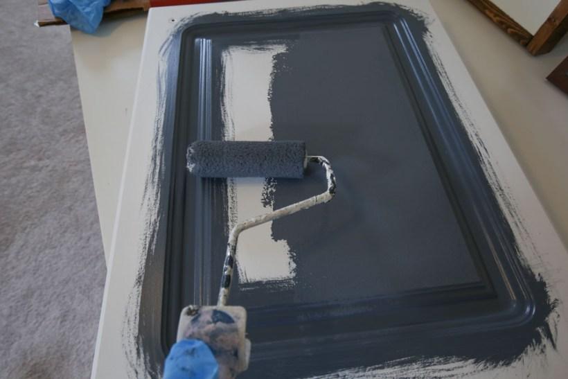 Painting a bathroom vanity door