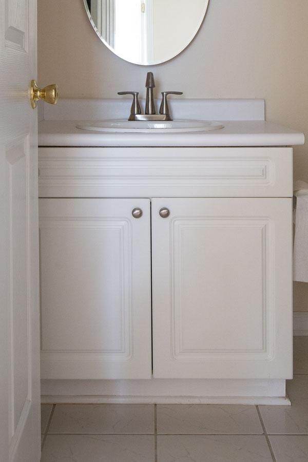 bathroom vanity before paint