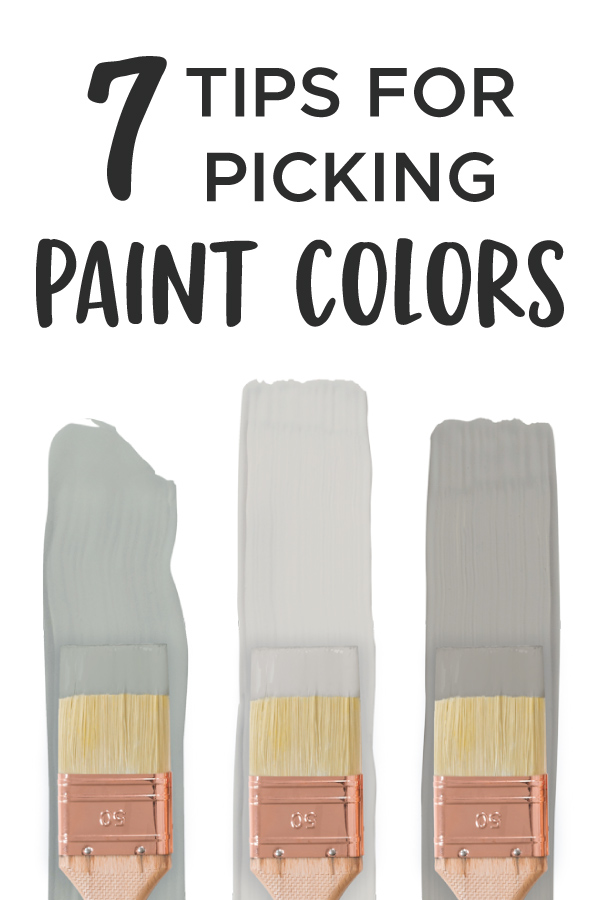 infographic for picking paint colors
