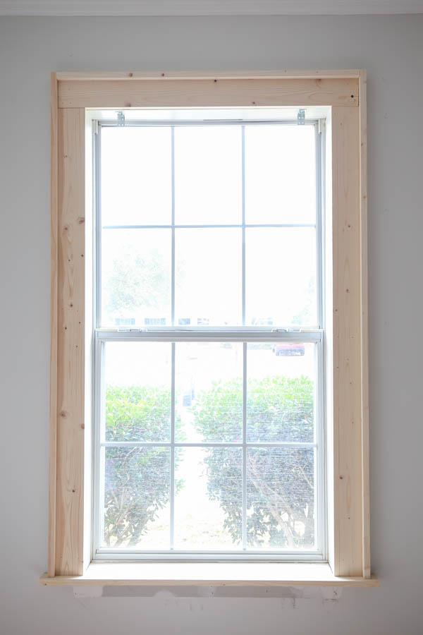 how to trim a window with wood