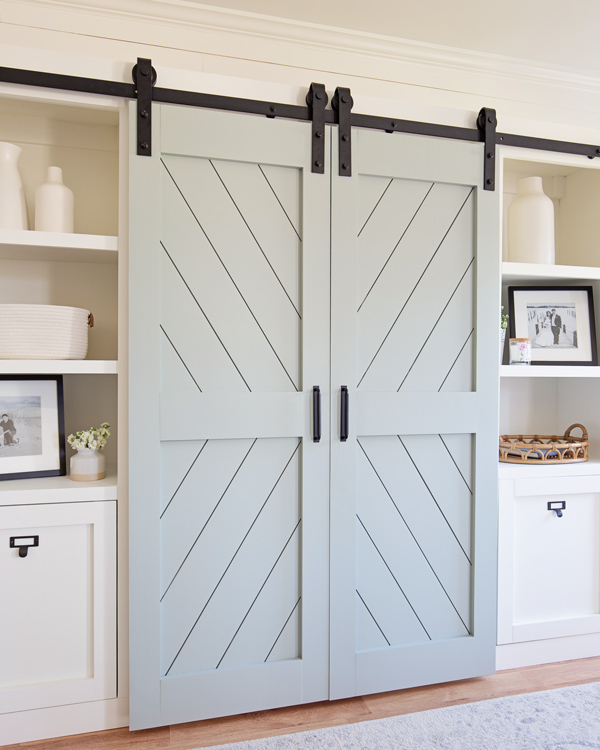 DIY double barn doors side angle