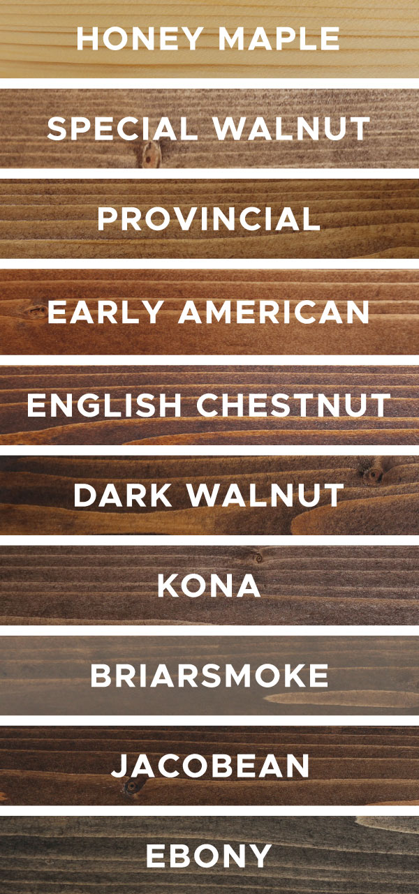 10 Wood Stain Colors Favorites