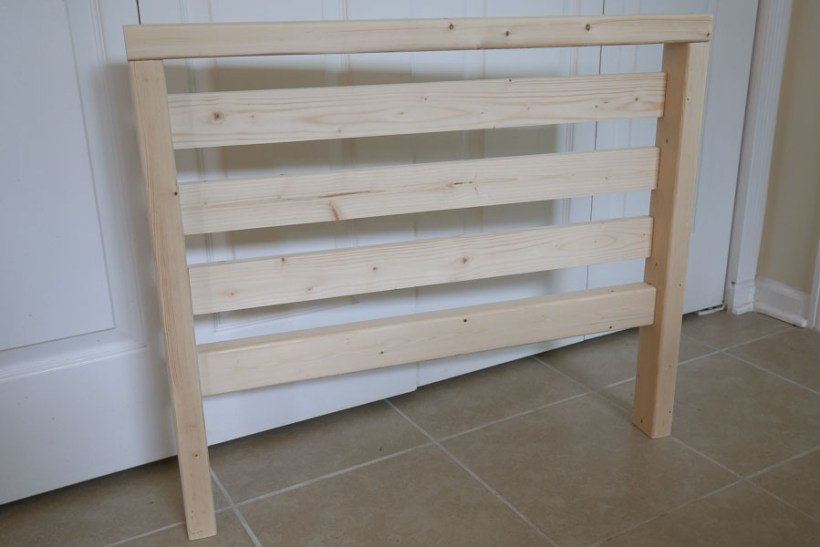 wood side frame with wood slats for DIY outdoor sofa