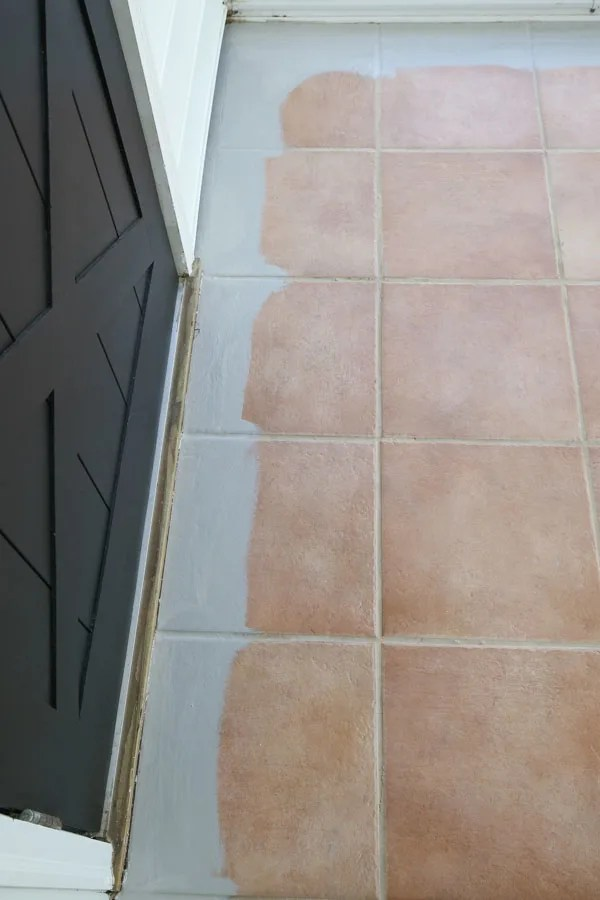 how to paint tile floor angela marie made