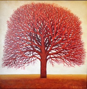 angela melkis Red Tree