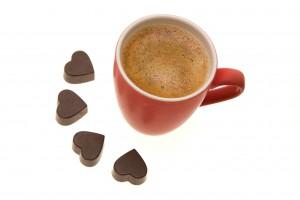 Valentines morning coffee
