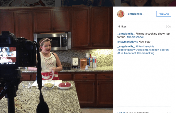 Follow me on Instagram or Facebook, where I share a lot of the things we do during our Homeschool days, like this cooking show we filmed for fun!