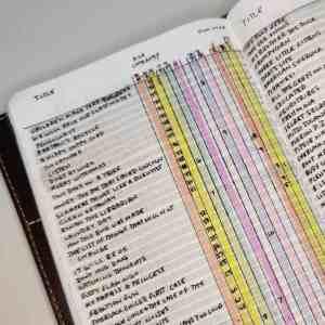 Handdrawn bullet journal reading log.