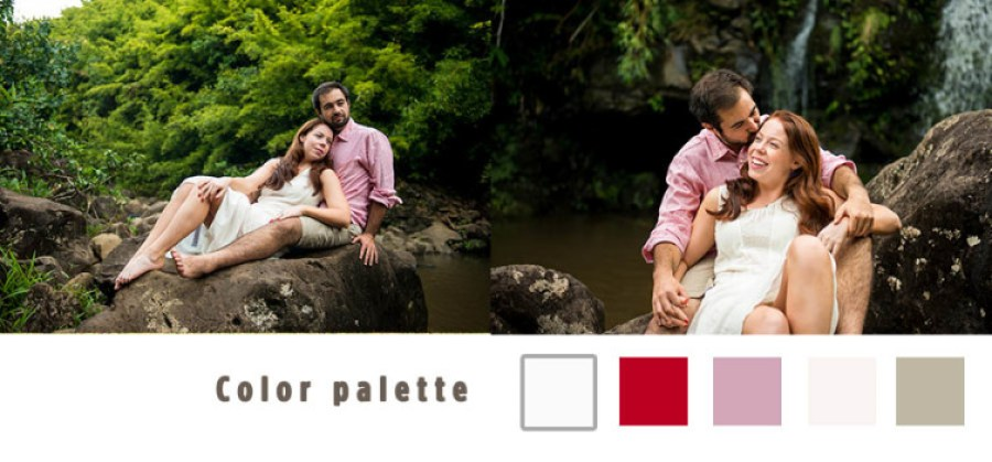 jungle engagement session what to wear