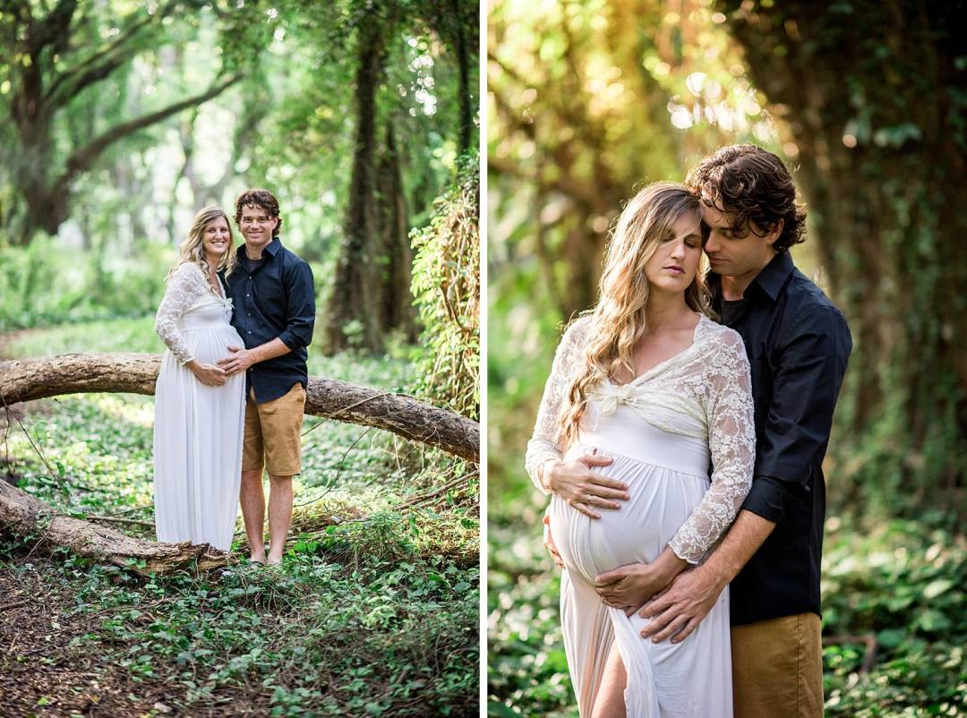 jungle maternity photos in maui
