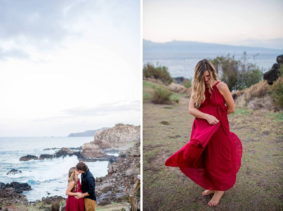 maternity photography in northwest maui