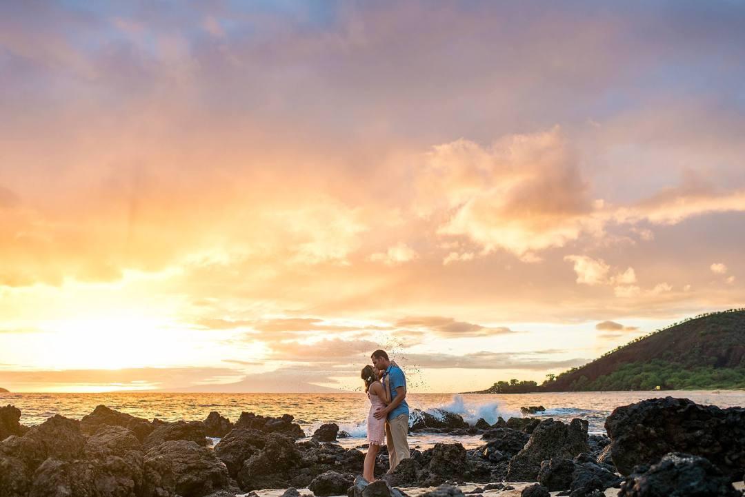 amazing clouds on big beach in maui, hawaii