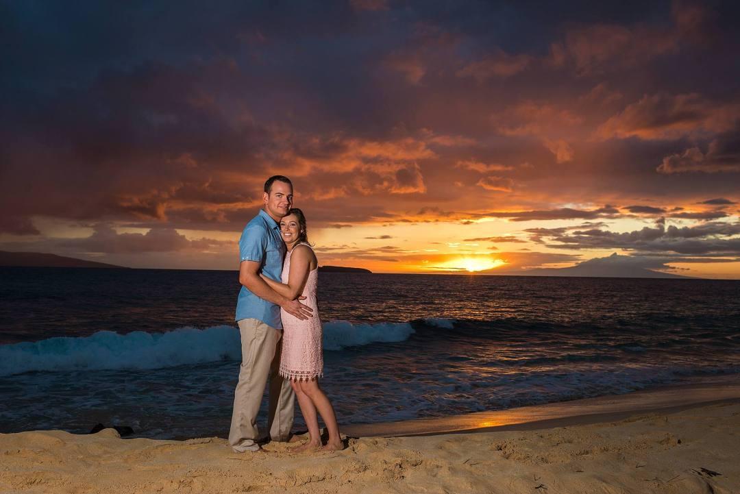sunset photographer in maui, hawaii