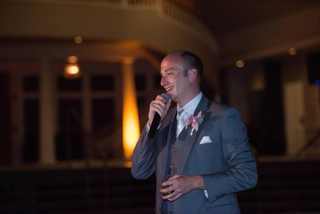 best man speech, best man in grey suit, vest