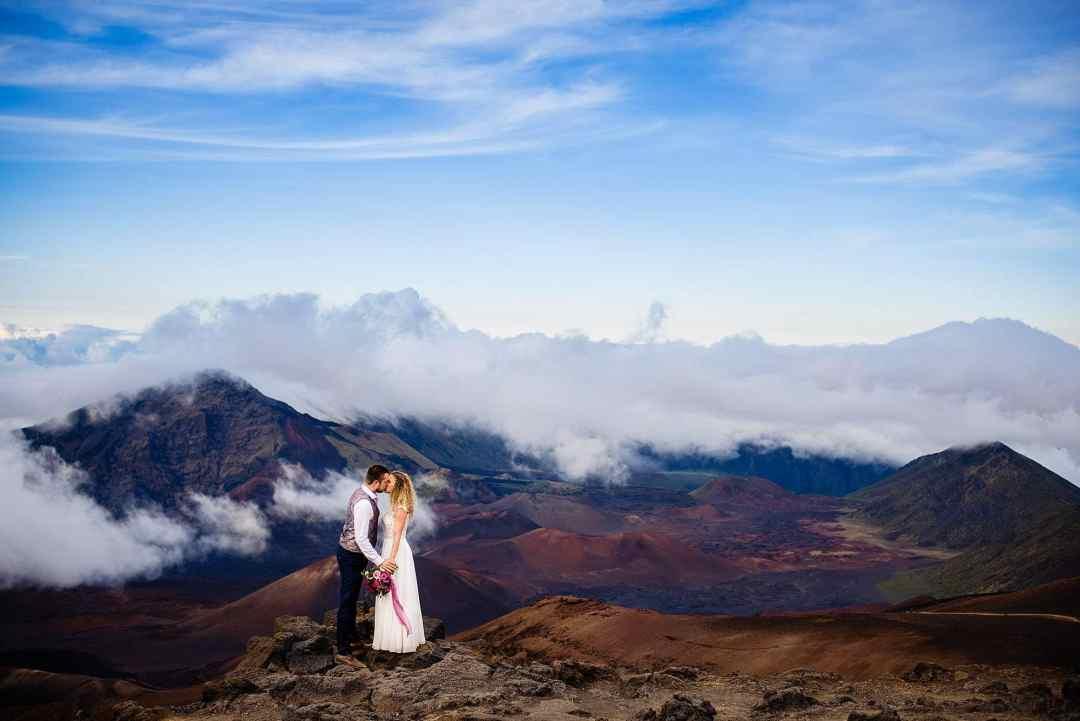 haleakala elopement with austrian couple