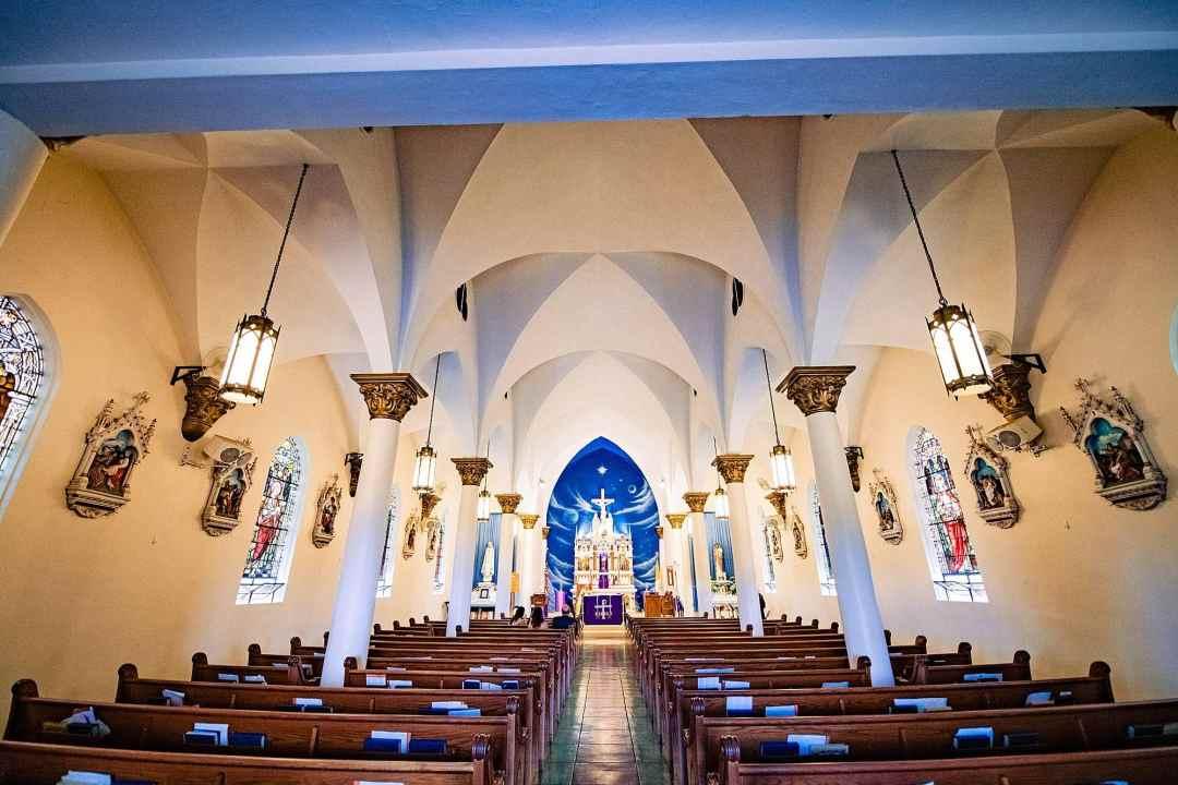 inside of st.joseph church in makawao