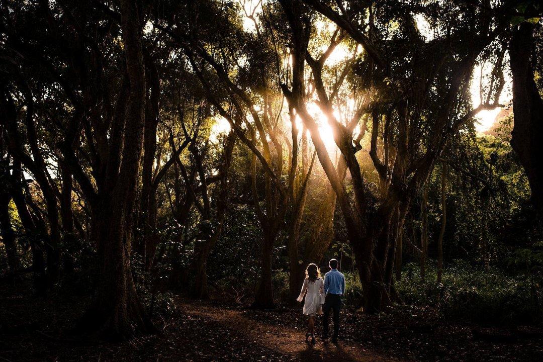 maui jungle engagement photography