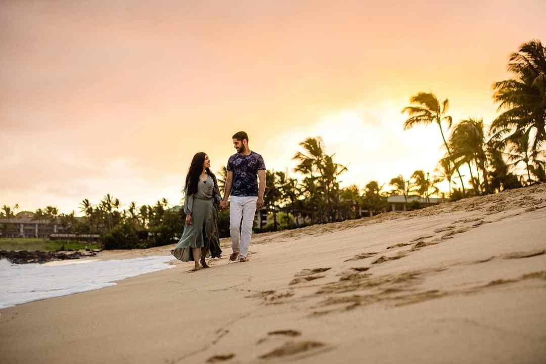 sunset portraits on shipwreck beach kauai