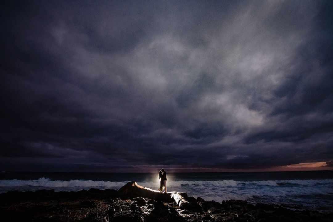 stormy kauai engagement photography