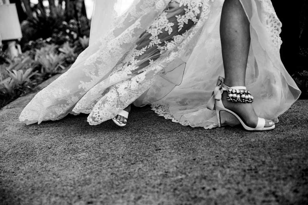 bride with bells on her ankles