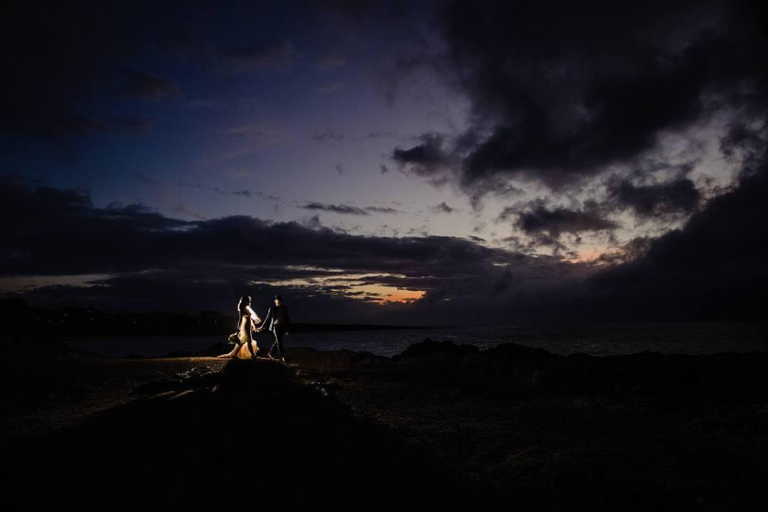 night time portrait in Kapalua, Maui