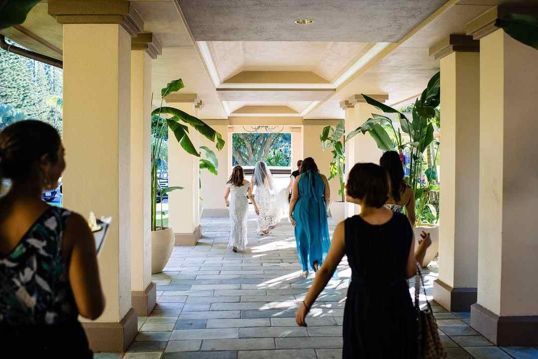 bride heading to her ceremony