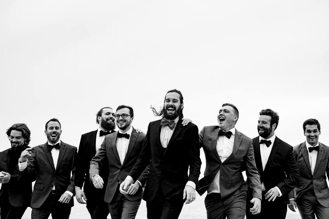 groomsmen photo - west michigan wedding photographer