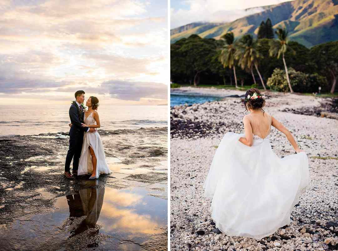 bridal portrait at Olowalu Plantation House