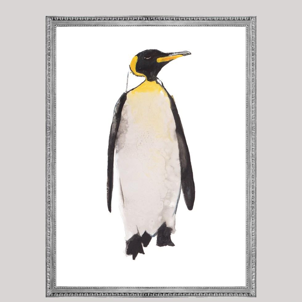 Pinguïn vogel animal dieren print, Natuurlijk Angelart, Angela Peters. Illustratie Ink aquarel