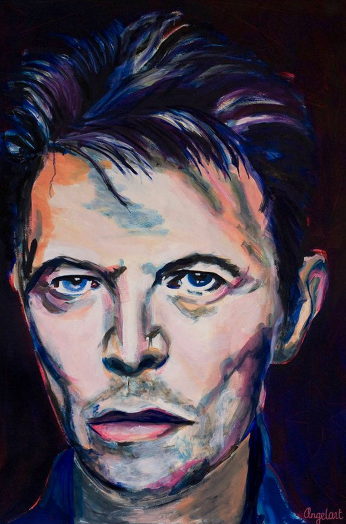 limited edition Giclée Print Herman Brood, prince, David Bowie Angela Peters beeldende kunst