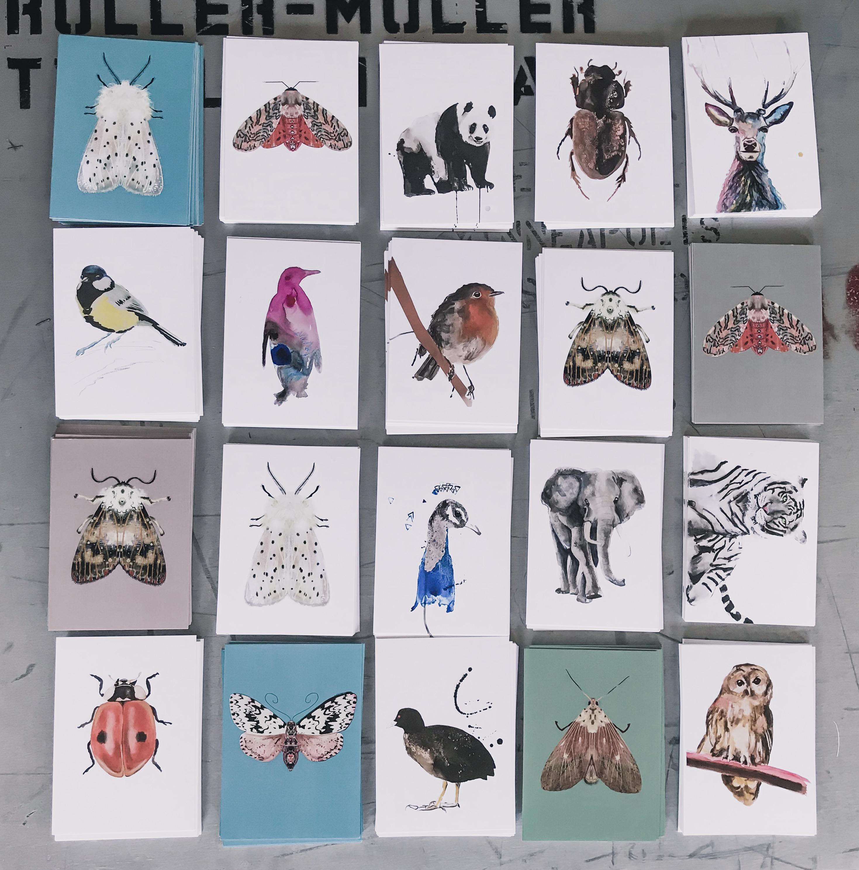 ansichtkaarten art print Angela Peters natuurlijk Angelart