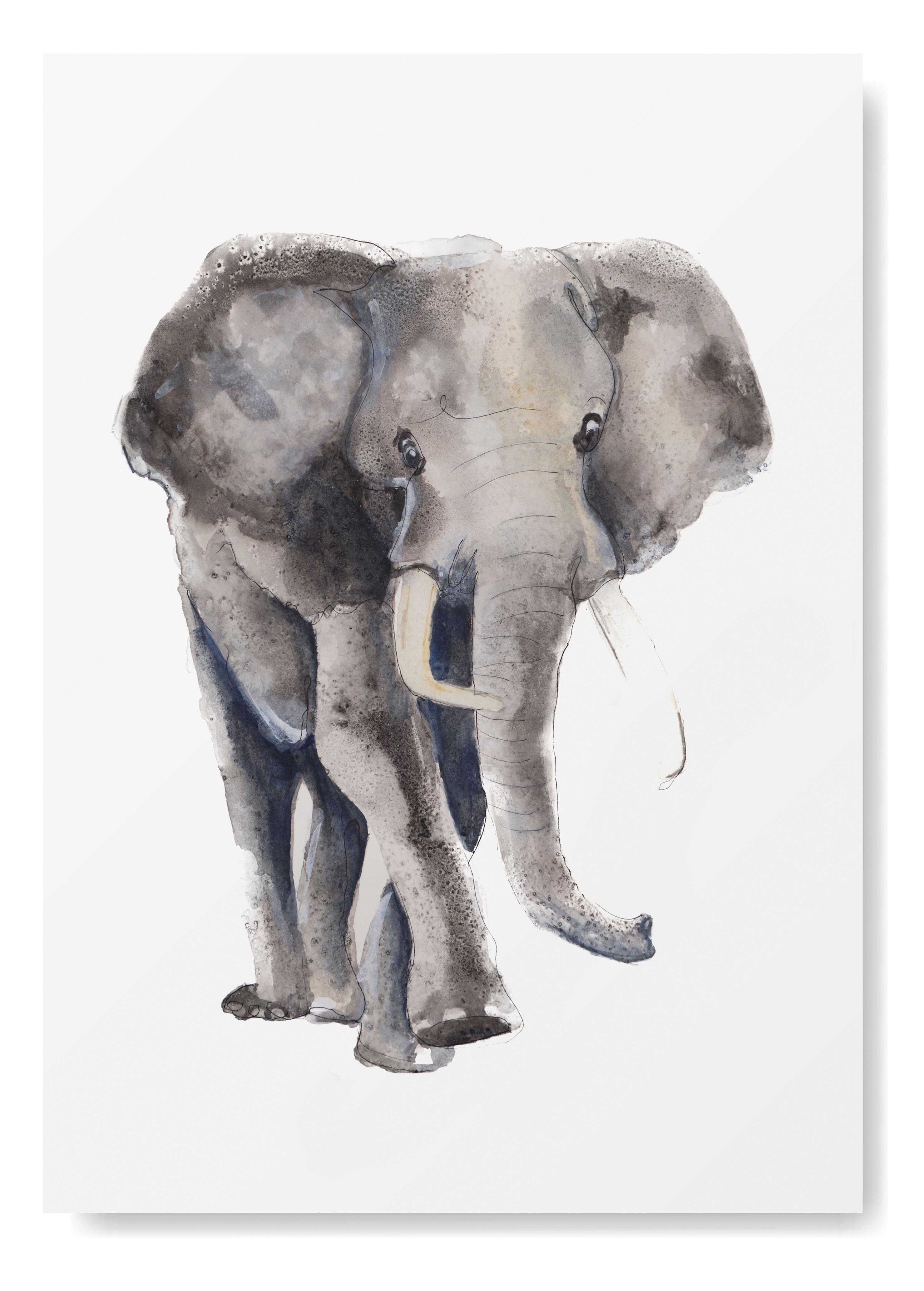 Olifant Kunstprint - Afrikaanse Dieren Kunst- Kunst aan de muur - Olifanten Poster - Dieren Art Print Angelart Kunst&Zo, Angela Peter