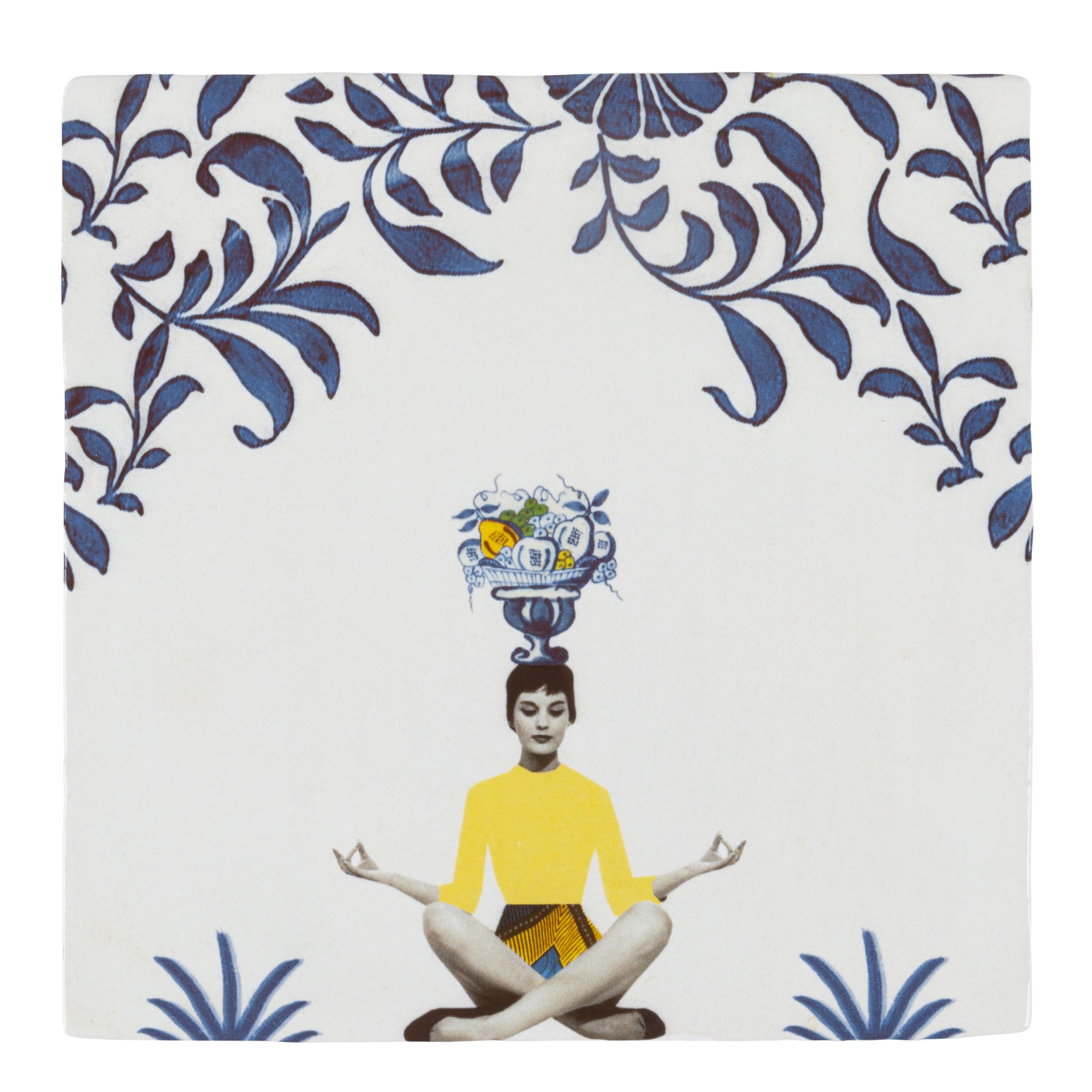 StoryTiles Angelart kunst en zo, keramische tegels STILTE MOMENTJE