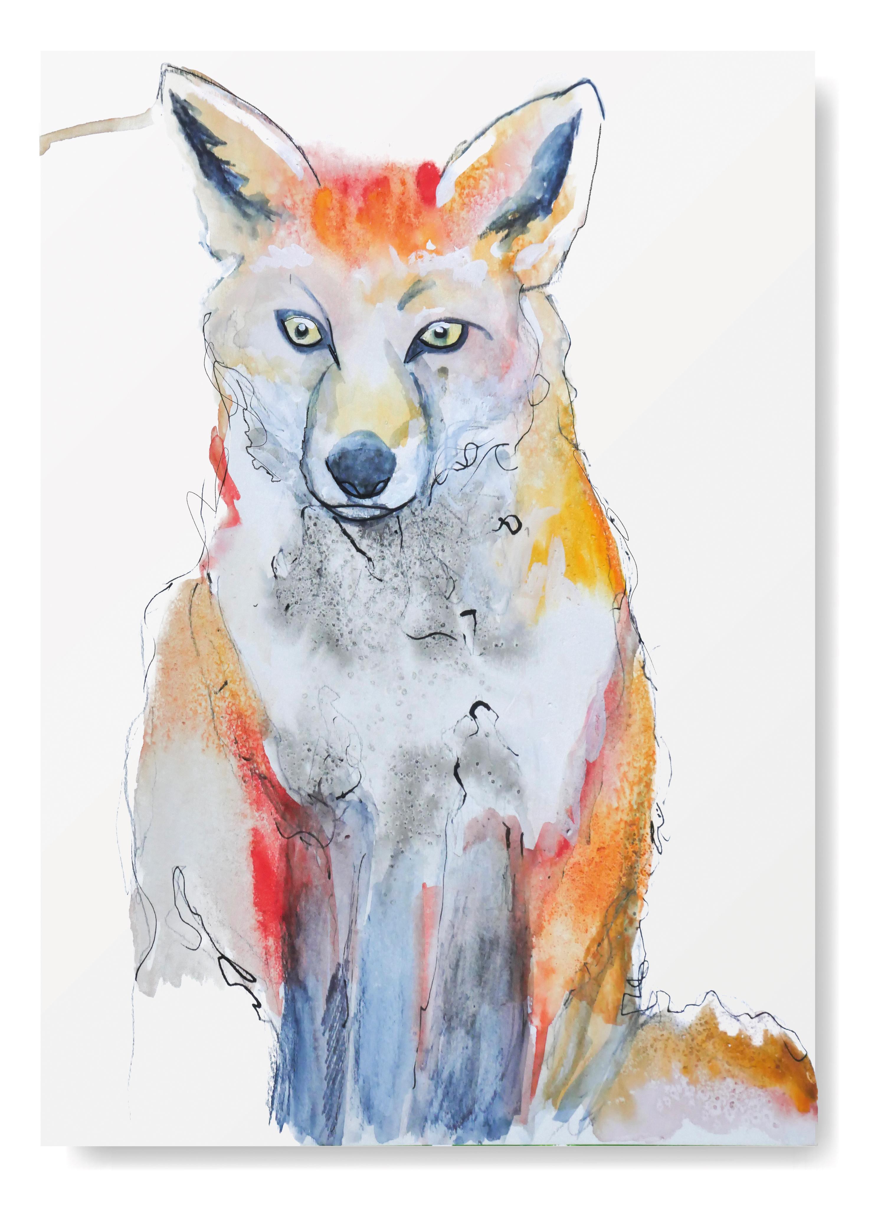 Angela Peters illustratie, dieren kaarten Angelart Kunst&zo kunst poster vos