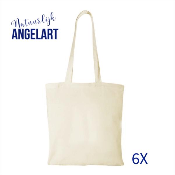 Natuurlijk Angelart katoenen tassen voor stempel-art
