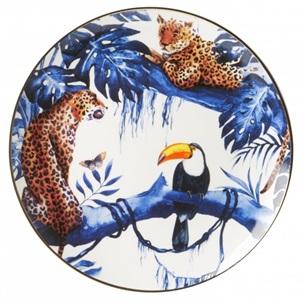 Heinen Delfts Blauw Wandbord In the jungle bij Angelart Kunst en Zo Hattem In de jungle