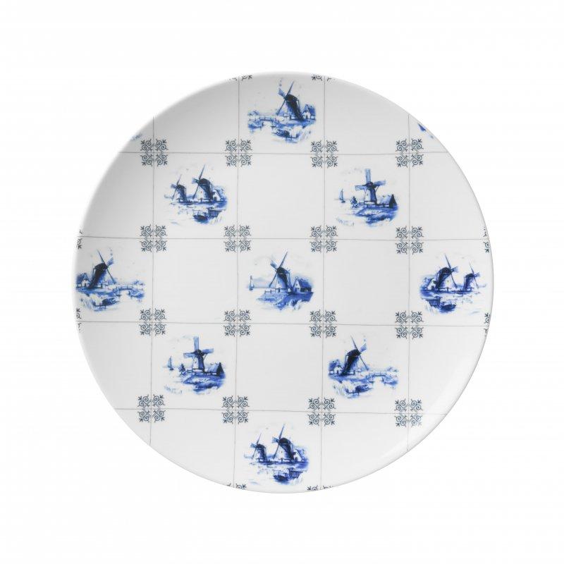 Wandbord molens op tegels Heinen Delfts Blauw wand borden bij Angelart Kunst en Zo Hattem Molen