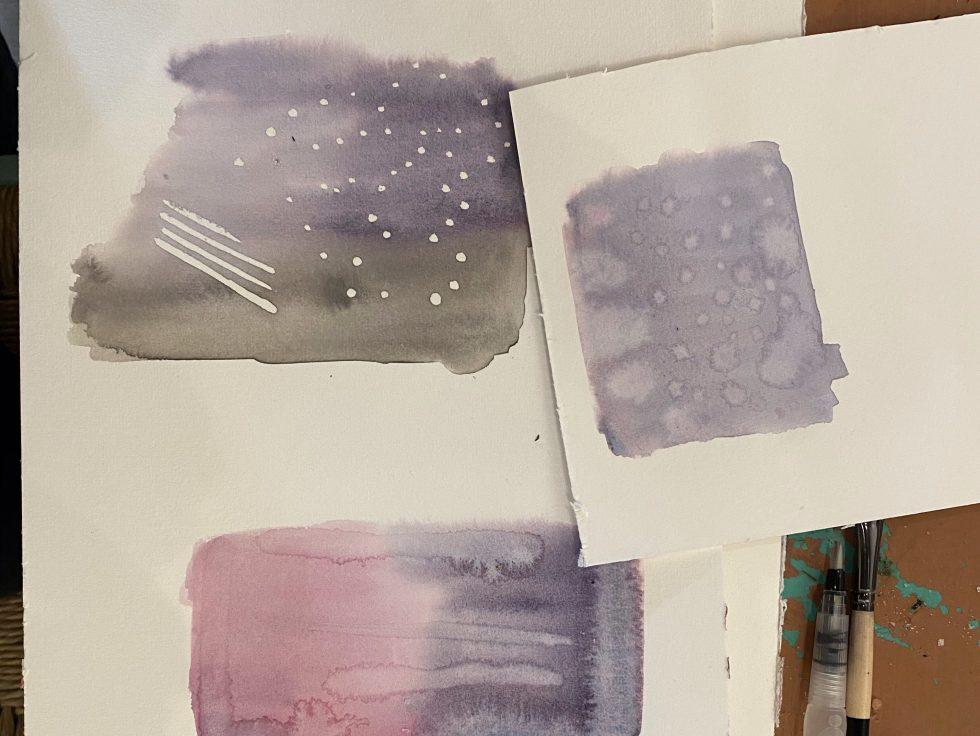 aquarelverf natuurlijk angelart aquarelverf oefeningen texturen