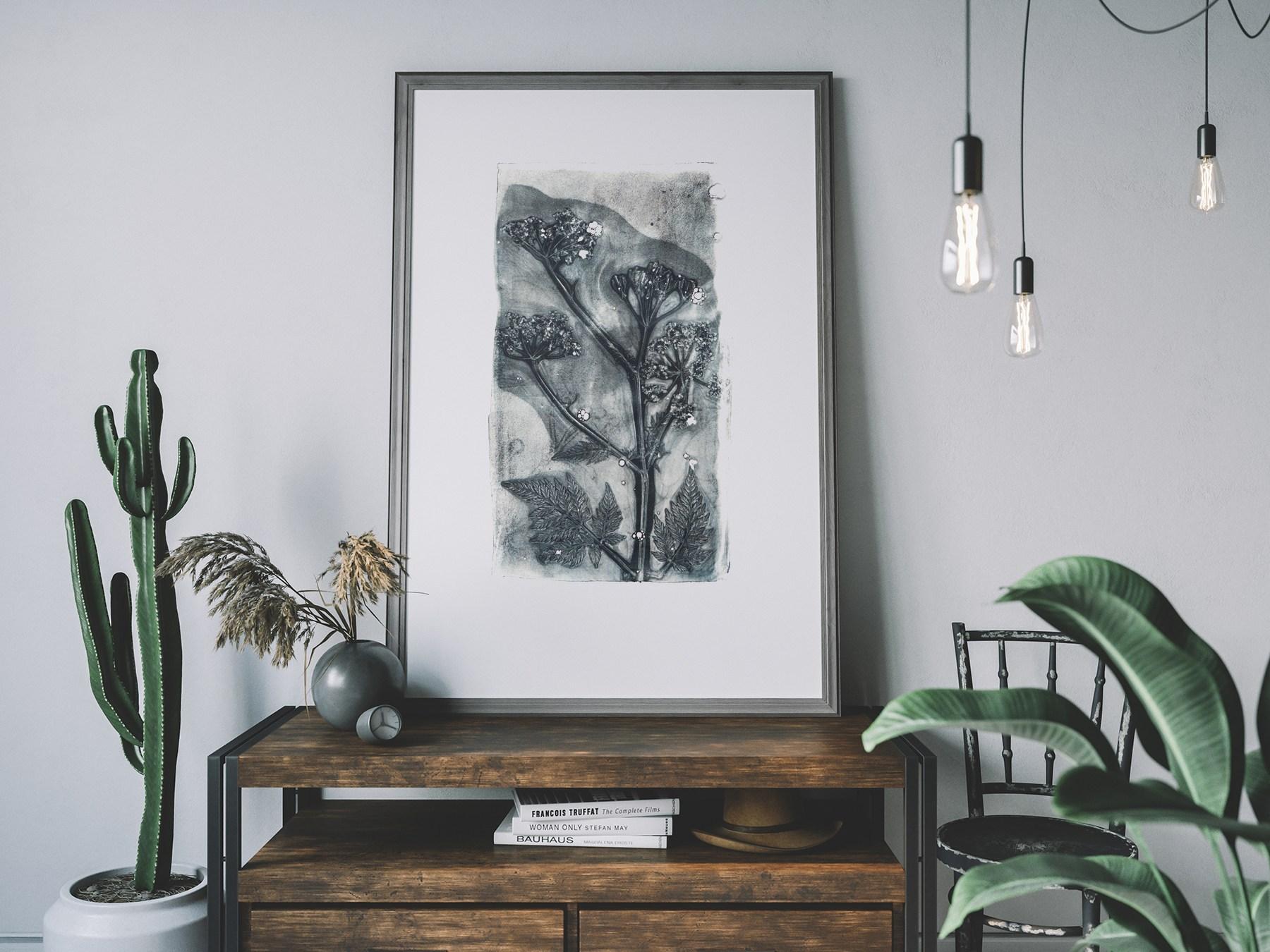 Fluitekruid kunst print vt wonen weer verliefd op je huis. Angela Peters Angelart
