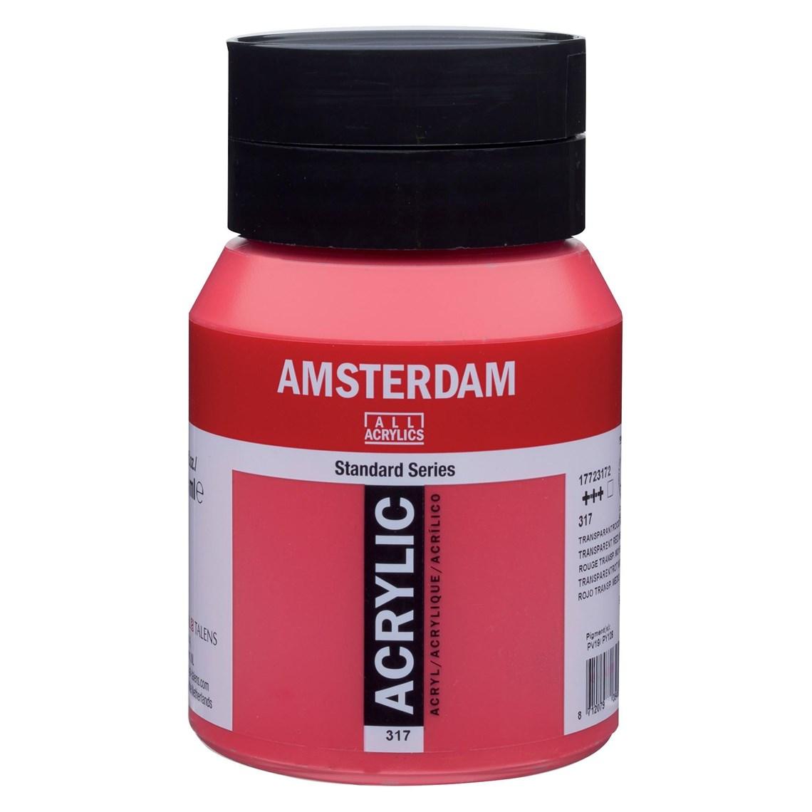 Amsterdam acrylverf Transparantrood middel 317 Angelart Kunst en zo