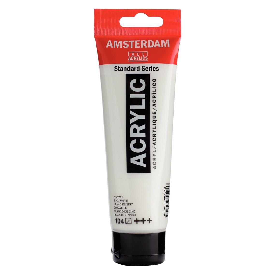 Amsterdam acrylverf Zinkwit 104 Standard Series