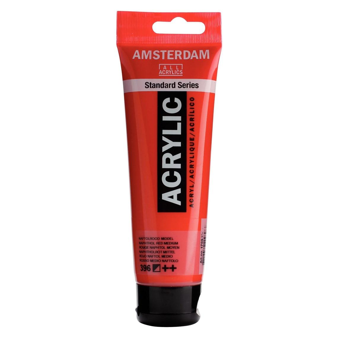 Amsterdam acrylverf Naftolrood middel 396