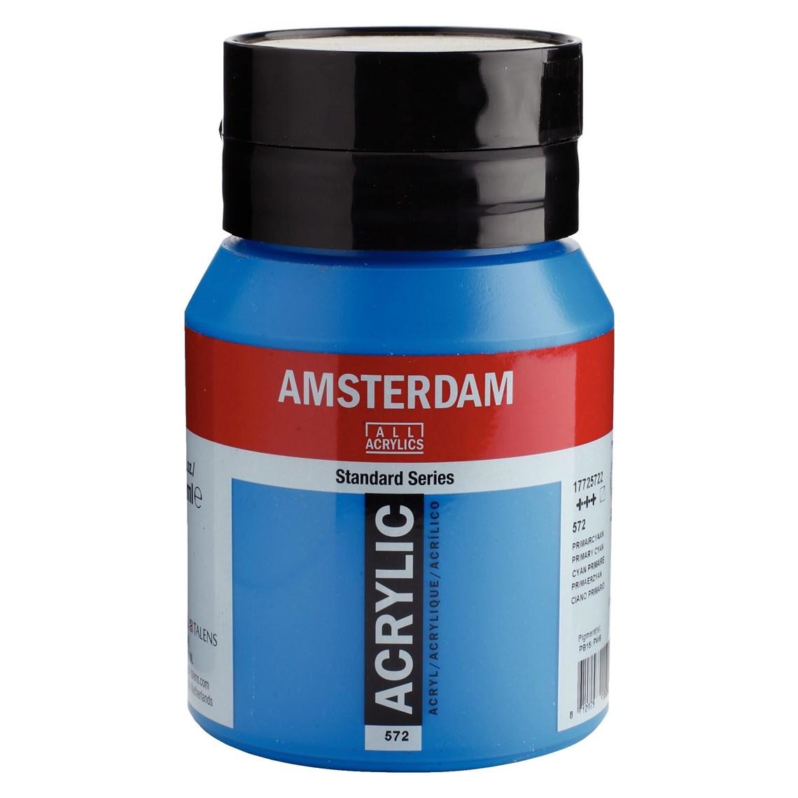 Amsterdam acrylverf Primaircyaan 572 Angelart kunst en zo