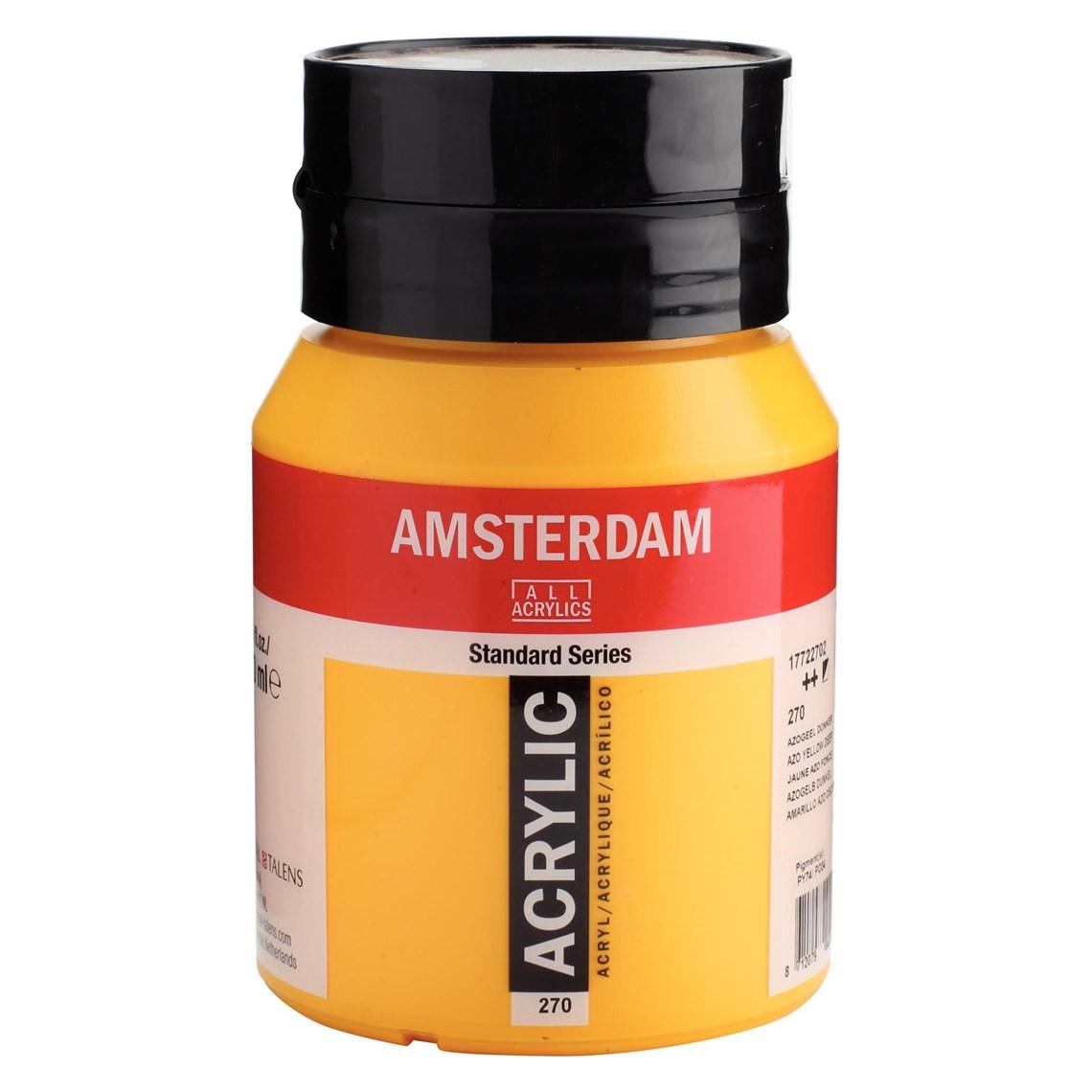 Amsterdam acrylverf Azogeel donker 270