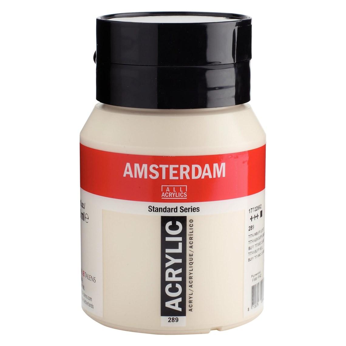 Amsterdam acrylverf Titaanbuff licht 289