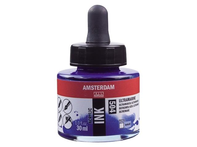 Acryl inkt Ultramarijn 504 - Amsterdam acrylic