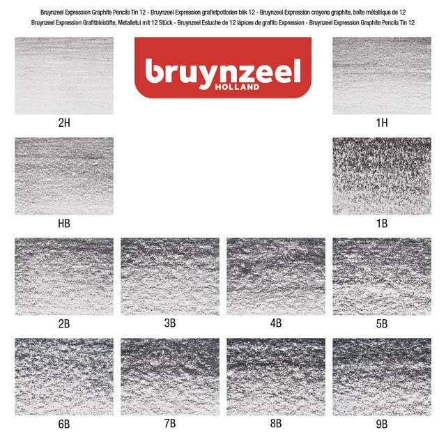BLIK 12 GRAFIETPOTLODEN BRUYNZEEL REMBRANDT