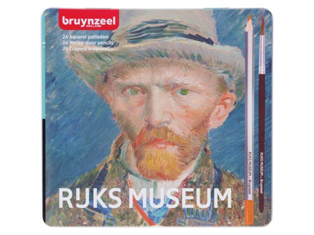 Box Aquarelpotloden 24 stuks, inclusief penseel - Vincent Van Gogh
